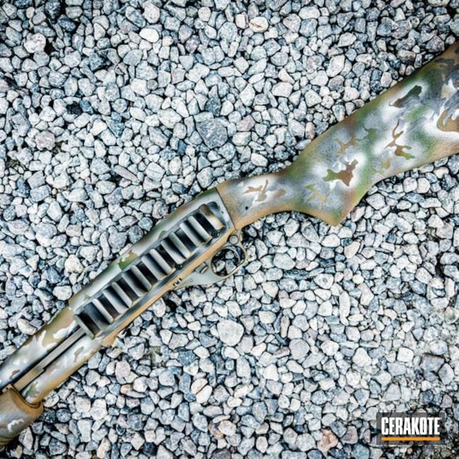 Cerakoted: Highland Green H-200,MultiCam,Shotgun,Mil Spec O.D. Green H-240,Stainless H-152