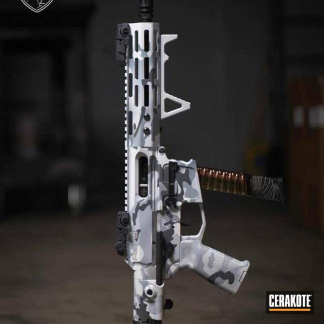 Cerakoted: Bright White H-140,Stone Grey H-262,AR Pistol,MultiCam,BATTLESHIP GREY H-213,MultiCam White
