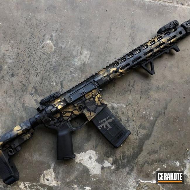 Cerakoted: Sniper Grey H-234,MultiCam,Armor Black H-190,Tactical Rifle,Gold H-122