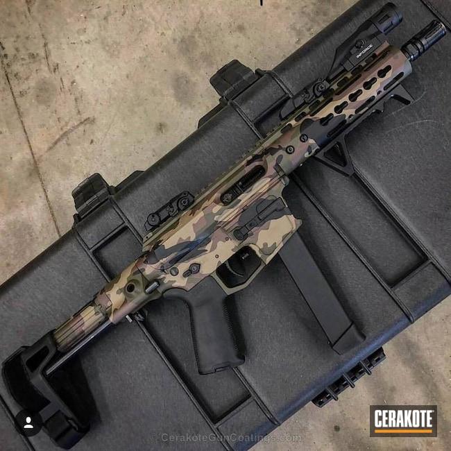 Cerakoted: AR Pistol,MultiCam,Mil Spec O.D. Green H-240,Armor Black H-190