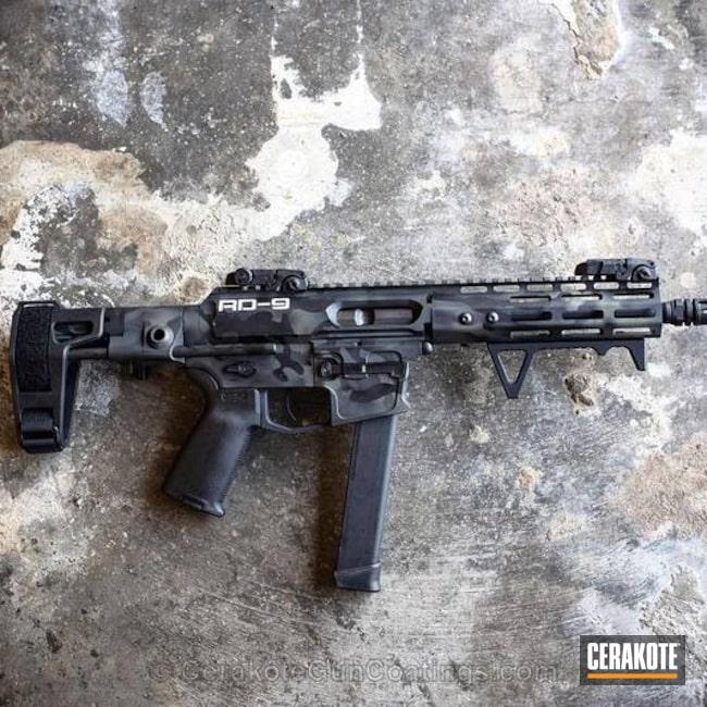 Cerakoted: AR Pistol,MultiCam,Armor Black H-190,Forest Green H-248,MultiCam Black,9mm AR pistol