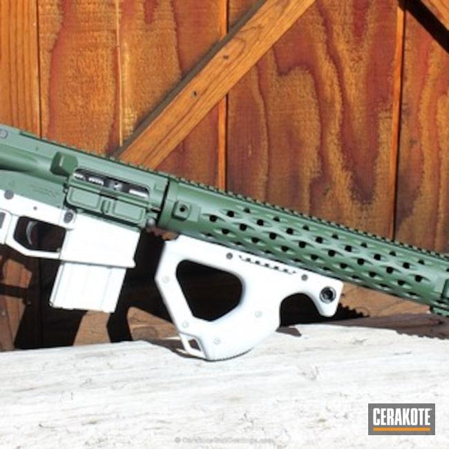 Cerakoted: Bright White H-140,Hidden White H-242,Highland Green H-200,Bullpup,Graphite Black H-146,WWII,Tactical Rifle,Theme,AR-15