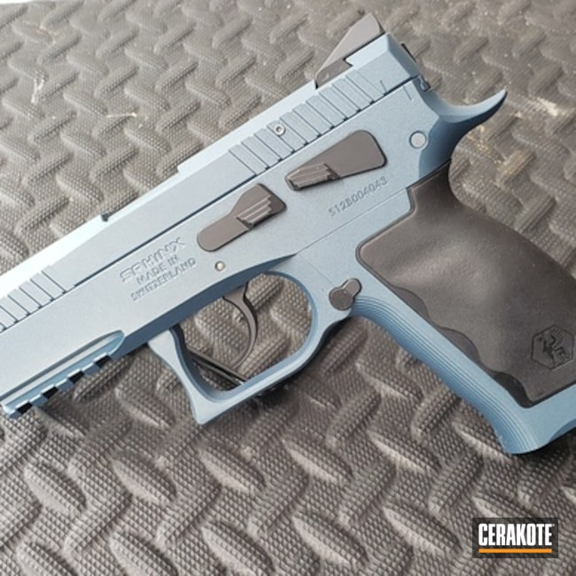 "Thumbnail image for project ""Sphinx Handgun done in H-185 Blue Titanium"""