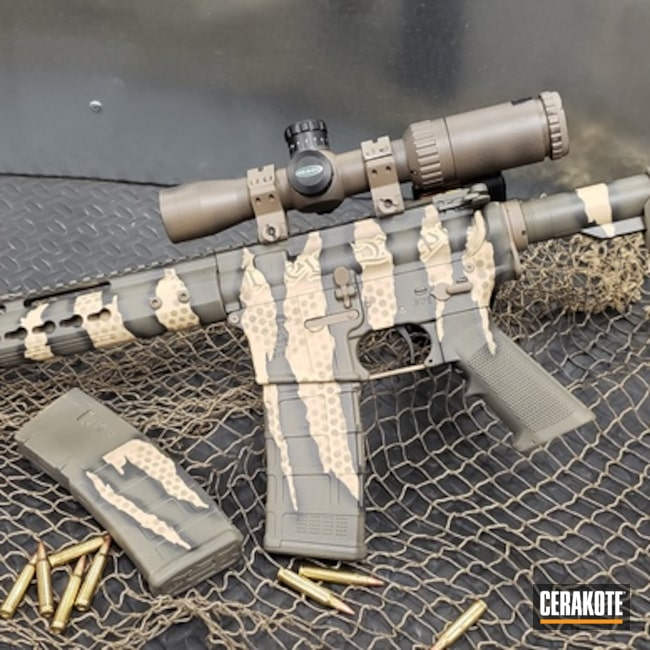 "Thumbnail image for project ""Anderson Mfg AR Builders Kit finished in a Cerakote Riptile Camo"""