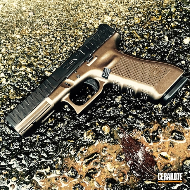 Zev Glock Cerakoted in H-294 Midnight Bronze