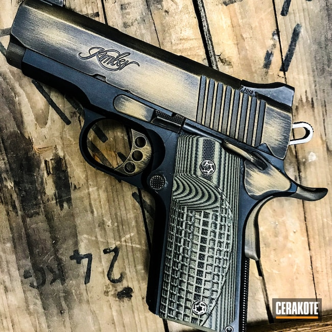Kimber Ultra Carry II in a distressed Burnt Bronze Finish