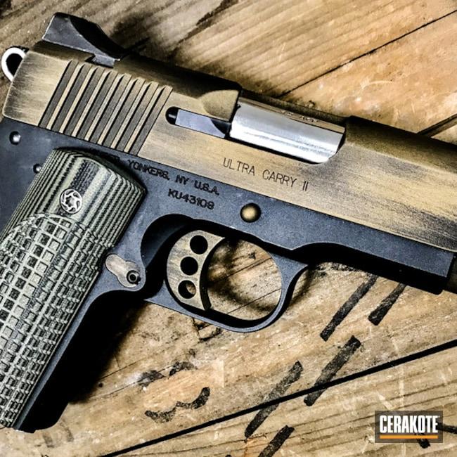 Cerakoted: Battleworn,Kimber,Distressed,Kimber Stainless Ultra Carry II,Burnt Bronze H-148,Pistol