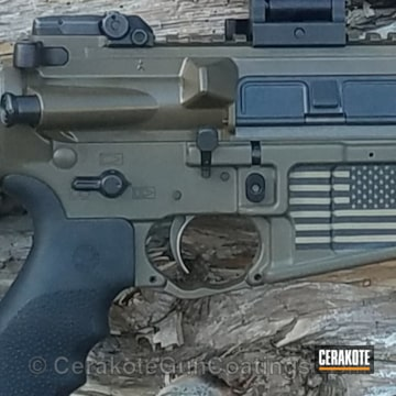 Cerakoted Lwrc International Rifle Featuring A Cerakote Us Flag