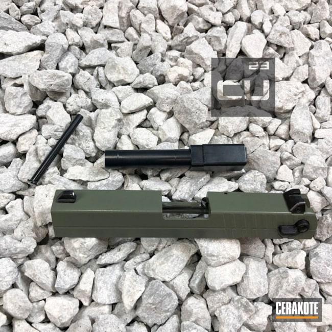 Cerakoted: Midnight E-110,Jungle E-140,Cerakote Elite Series,Walther,Barrel,Jungle E-140G,Slide