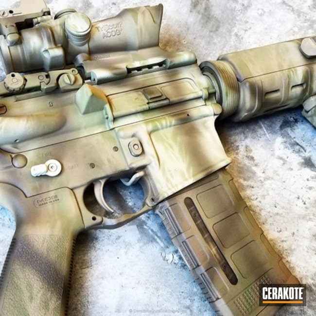 Tactical Rifle in a Custom Cerakote Camo Finish