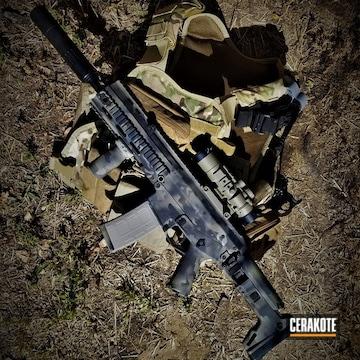Cerakoted Cerakote Multicam On This Scar Rifle