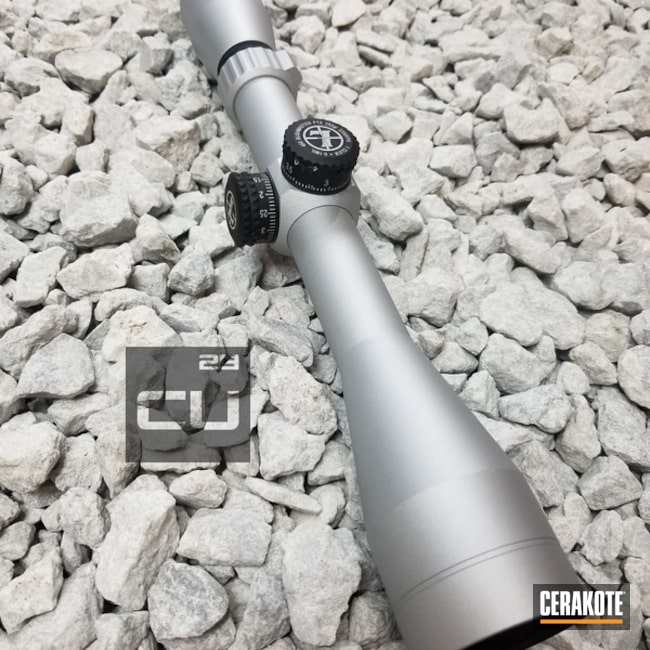 Cerakoted: Scope,satin nickel,Crushed Silver H-255,Leupold,Air Cure
