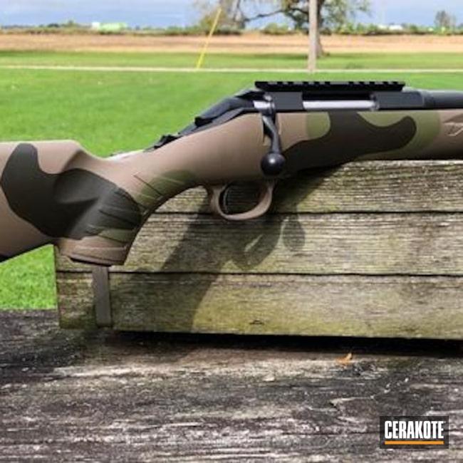 Cerakoted: Bolt Action Rifle,MAGPUL® FLAT DARK EARTH H-267,MultiCam,Graphite Black H-146,MAGPUL® O.D. GREEN H-232