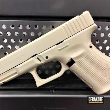 Cerakoted Glock 19 In Cerakote H-142 Light Sand