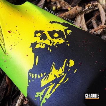 Cerakoted Zombie Themed Benelli Shotgun