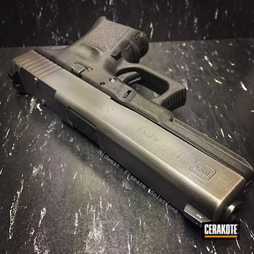 Cerakoted Distressed Glock 17 Handgun