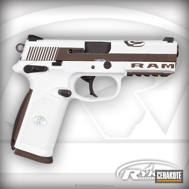 Custom Themed Cerakote Finish on this FN .45 ACP Handgun