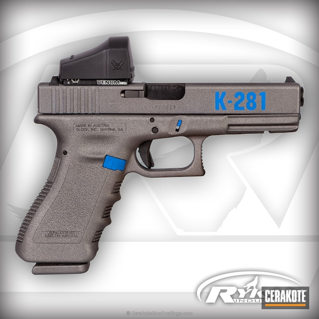 Glock done in H-171 NRA Blue and H-227 Tactical Grey