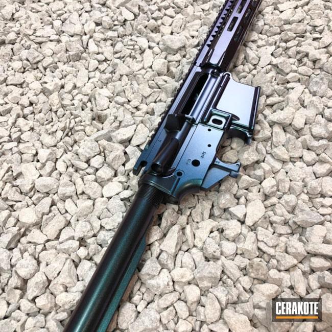 Cerakoted: Rifle,AR Pistol,GunCandy Stingray,Upper / Lower / Handguard,Armor Black H-190,AR-15,GunCandy