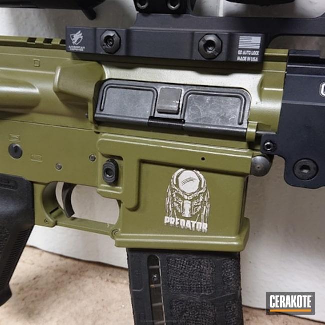 Cerakoted: GeisseleAutomatics,Tactical Rifle,Sig,Predator,Noveske Bazooka Green H-189