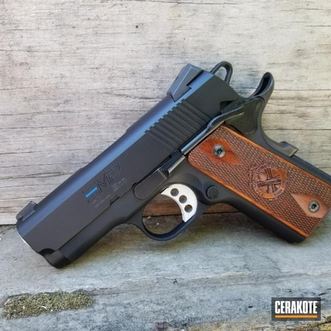 Cerakoted: NRA Blue H-171,Thin Blue Line,Graphite Black H-146,Pistol