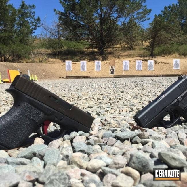 Cerakoted: Sniper Grey H-234,Glock,Midnight Bronze H-294,Pistols