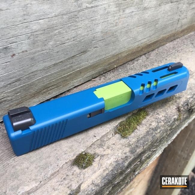 Cerakoted: Two Tone,Zombie Green H-168,Slide,Sky Blue H-169