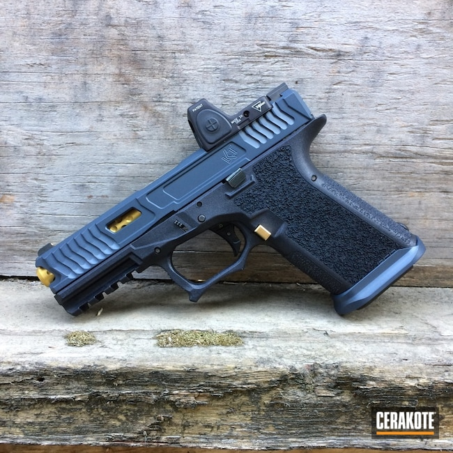 Cerakoted: Sniper Grey H-234,NRA Blue H-171,Pistol,Glock