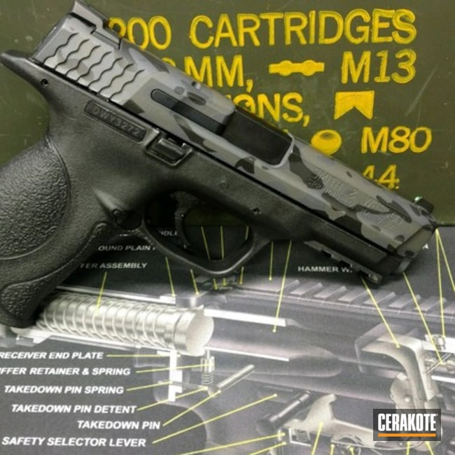 Cerakoted: Sniper Grey H-234,MultiCam,Graphite Black H-146,Smith & Wesson,Pistol,SIG™ DARK GREY H-210