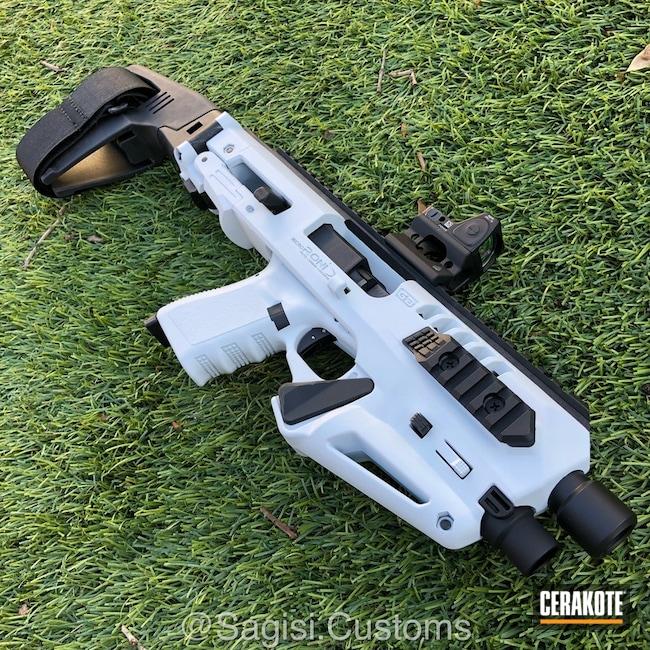Cerakoted: Snow White H-136,Roni Pistol Carbine,Micro Roni,Pistol,Glock,Pistol Carbine Conversion