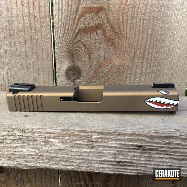 Cerakoted: Burnt Bronze H-148,Glock,Shark Mouth