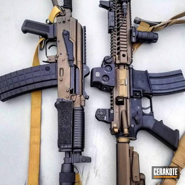 Cerakoted: Graphite Black H-146,Burnt Bronze H-148,Tactical Rifle,Midnight Bronze H-294