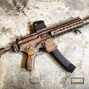 Cerakoted Specialized Custom Themed Sig Sauer Mpx Rifle