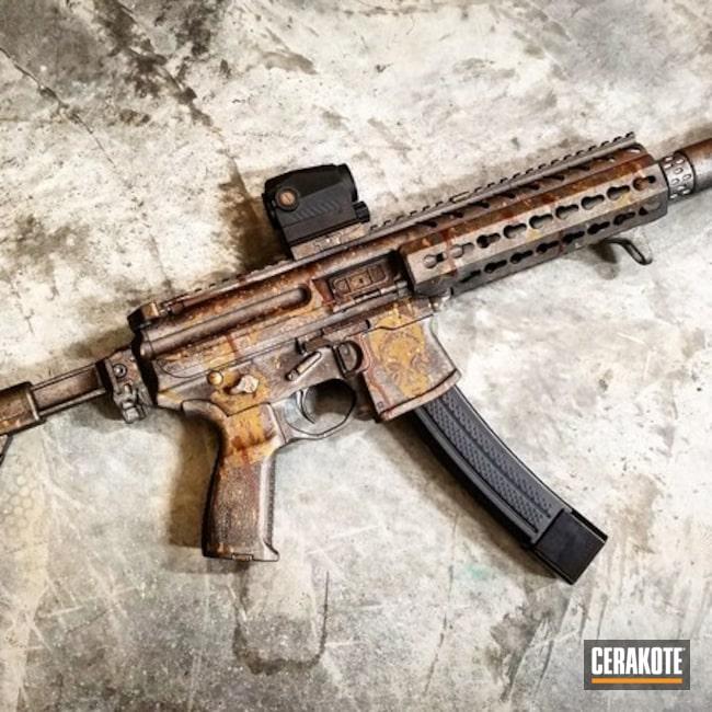 Cerakoted: Custom Theme,Distressed,Voodoo,Gun Metal Grey H-219,Tactical Rifle,Sig Sauer,Suppressor,Sig MPX,Custom Camo,Gold H-122,9mm,Battleworn,BARRETT® BRONZE H-259,Burnt Bronze H-148,SBR,Hunter Orange H-128,Ladies
