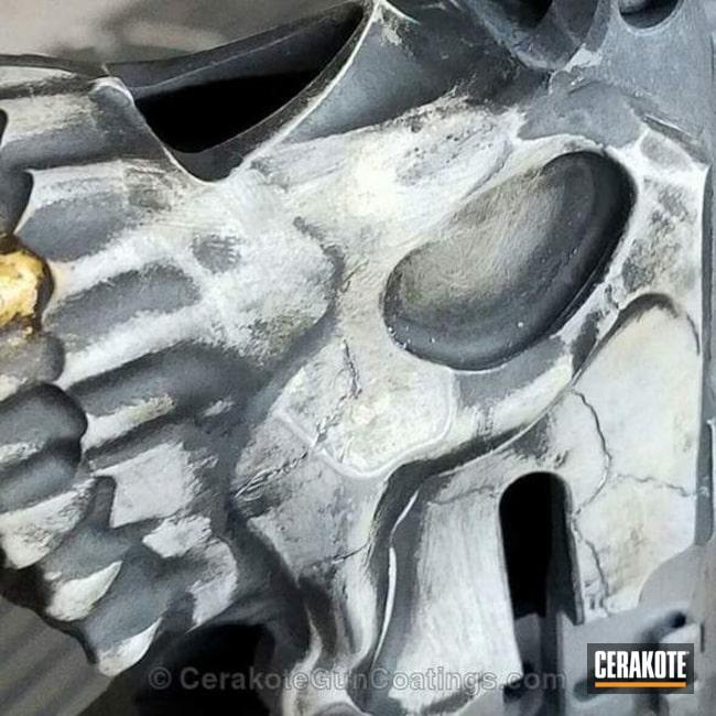Cerakoted: Hidden White H-242,Skull,Spike's Tactical The Jack,Lower,Armor Black H-190,Jack,Gold H-122