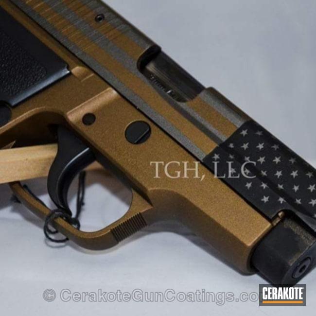 Cerakoted: Burnt Bronze H-148,Pistol,American Flag,Sig Sauer