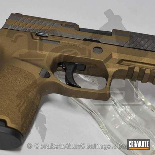 Cerakoted: Burnt Bronze H-148,Pistol,American Flag,Sig Sauer,Sig 320