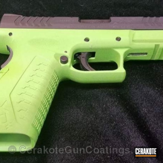 Cerakoted: Springfield XD,Gun Metal Grey H-219,Pistol,Springfield Armory