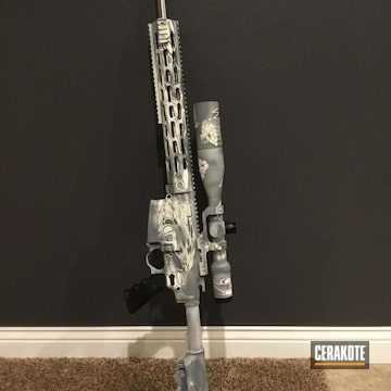 Cerakoted Long Range Tactical Rifle In A Kryptek Finish