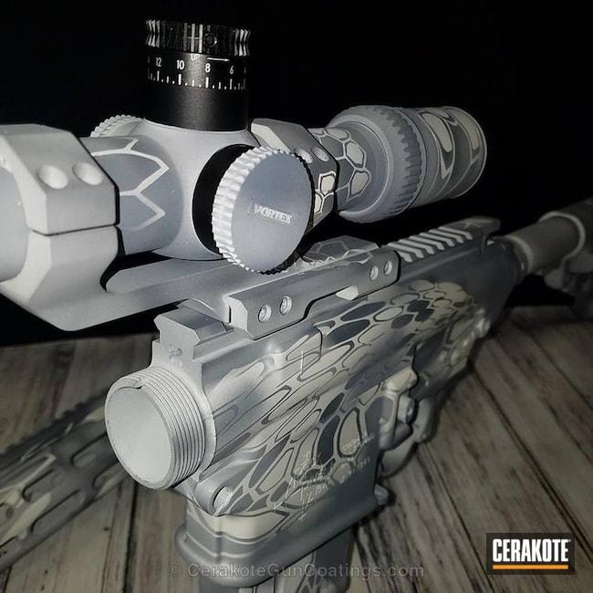 Cerakoted: Custom Mix,Kryptek,Steel Grey H-139,Scope,Snow White H-136,Tactical Rifle,Satin Aluminum H-151,Rock River Arms,Snow Camo,Long Range Tactical Rifle