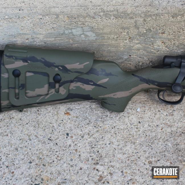 Cerakoted: Bolt Action Rifle,Vietnam Tiger Stripe Camo,MAGPUL® FLAT DARK EARTH H-267,Desert Sand H-199,O.D. Green H-236