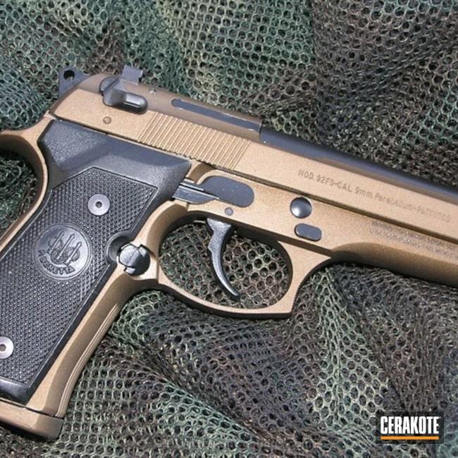 Cerakoted: Graphite Black H-146,Burnt Bronze H-148,Pistol,Beretta