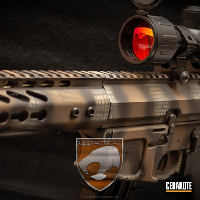 Cerakoted: Graphite Black H-146,Desert Sand H-199,Tactical Rifle,Flat Dark Earth H-265,144 Tactical PS15,Custom Camo,Shadowtac,AR-15