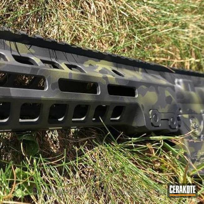 Cerakoted: Spikes Tactical Pistol,Sniper Grey H-234,GeisseleAutomatics,MultiCam,Graphite Black H-146,Spikes Receiver,Tactical Rifle,Noveske Bazooka Green H-189,MultiCam Black,Spikes,Maxim Defense Brace