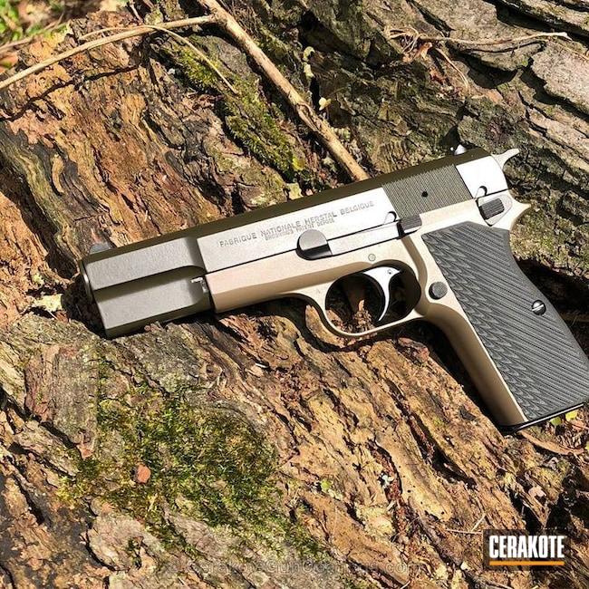 Cerakoted: Browning Hi-Power,MAGPUL® FLAT DARK EARTH H-267,Hi-Power,Graphite Black H-146,Pistol,MAGPUL® O.D. GREEN H-232,FN Herstal