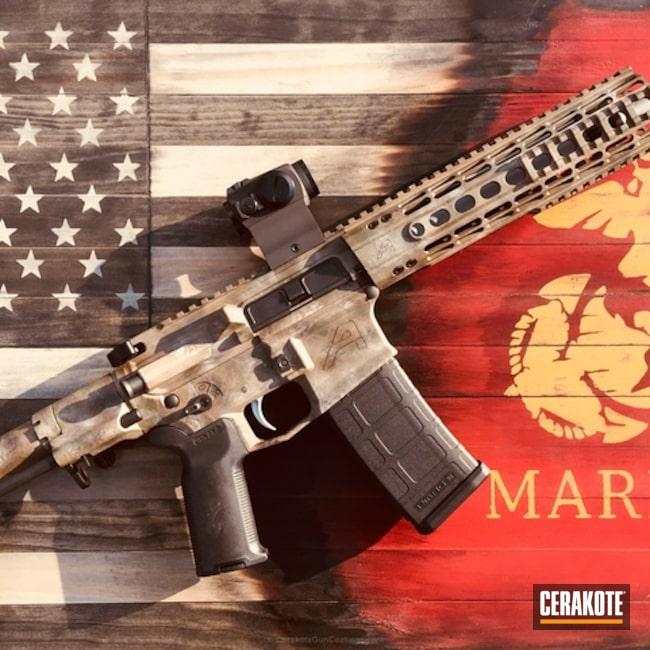 Cerakoted: Freehand Camo,Aero Precision,AR Pistol,MAGPUL® FLAT DARK EARTH H-267,Graphite Black H-146,Patriot Brown H-226,Custom Camo,AR-15
