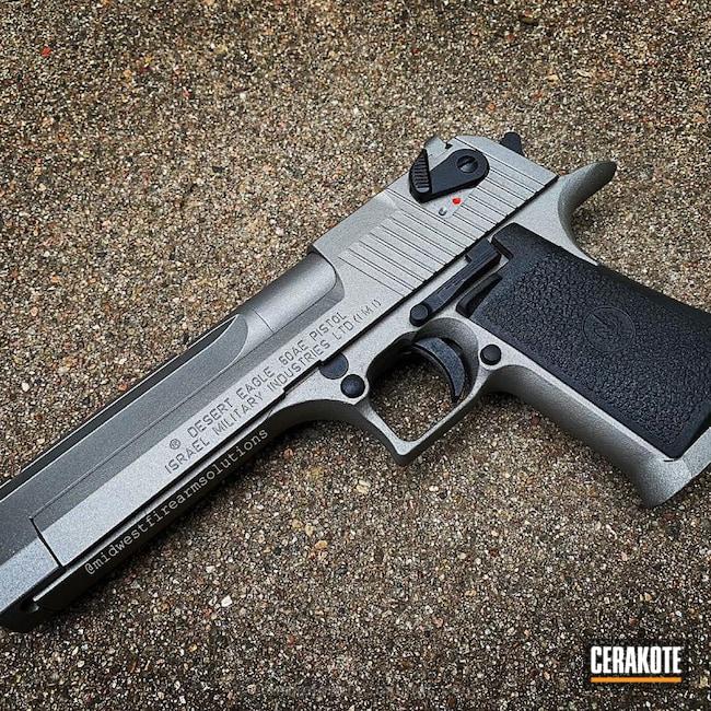 Cerakoted: Desert Eagle,Desert Eagle 44,Graphite Black H-146,50ae,Restoration,Gun Metal Grey H-219,Pistol,Before and After,Magnum Research Inc
