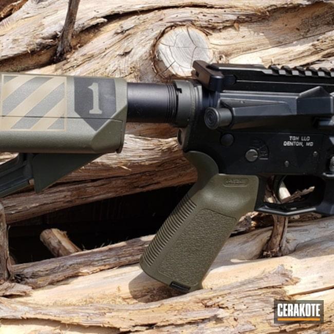 Cerakoted: Aero Precision,Graphite Black H-146,Mil Spec O.D. Green H-240,Tactical Rifle,American Flag,AR-15