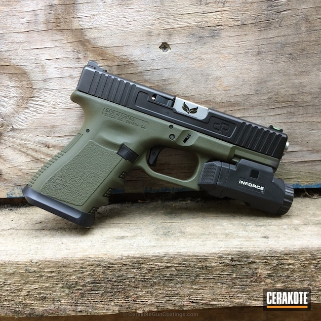 Cerakoted: Mil Spec O.D. Green H-240,Two Tone,Pistol,Glock