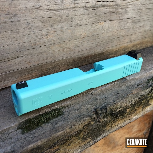 Cerakoted: Robin's Egg Blue H-175,Glock,Glock 17,Slide
